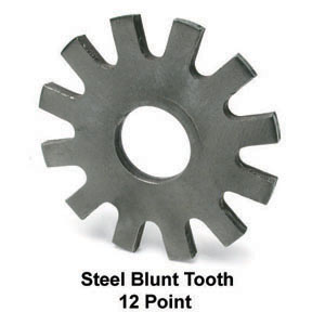 12 Point Blunt Tooth Steel Wheel for Scarifier Drum Assembly