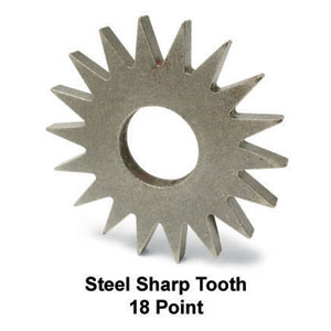 18 Point Sharp Tooth Steel Wheel for Scarifier Drum Assembly