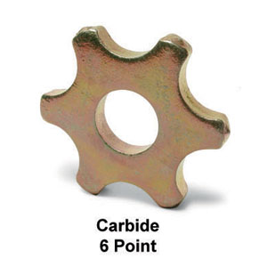 6 Point Carbide Wheel for Scarifier Drum Assembly
