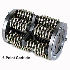 MK-Scarifier Drum - 6 Point Carbide